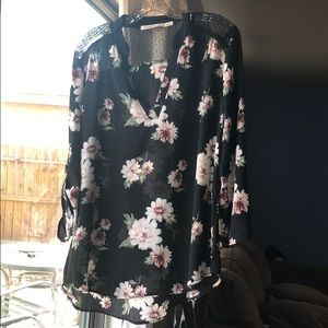 Large Liberty Love floral blouse
